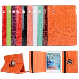 Wholesale Ipad Croco - 360 Rotating Crocodile Wallet Leather Case Stand Snake Croco Fold holster Pouch Book For Ipad Pro 9.7'' Inch tablet Skin Smart Cover Luxury