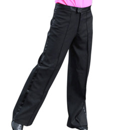 Wholesale Stage Dance - Wholesale-Hot Men's Dance Pants Professional Mens Latin Dance Trousers Practice Performance Stage Pants Modern Ballroom Dance Costumes