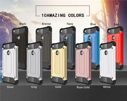 Wholesale Dual Phone Case - For Huawei P8 P9 Lite Honor 5A V8 P10 Case Shockproof Dual Layer Protection Armor Built-in Radiating Slot Case Fashion Mobile Phone Coque
