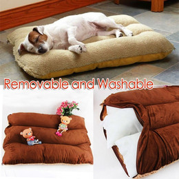 Wholesale Cat Beds Accessories - New Removable and Washable Dog House Soft PP Cotton Pet Beds Dog Products Pet House For Dog Cats Kennels Brand Pet House Beds