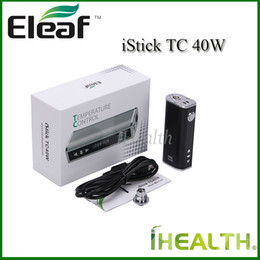 Wholesale Control Connectors - Authentic Eleaf iStick TC 40W Mod 2600mah Built-in Battery 40w Temperature Control Mod Kit with eGo Connector USB cable 4 Color Options