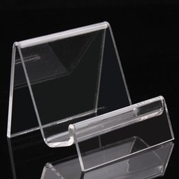Wholesale Acrylic Bangle Stand - 6.5*7*6.5CM clear acrylic bracelets bangles watch wallet display rack jewelry holder with new nice design A89