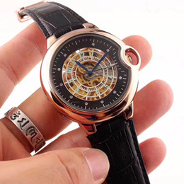 Wholesale Leather Belt Automatic Watches - All the dials work AAA crime watch men stainless steel belt MECHANICL AUTOMATIC top luxury watch brand casual watch1