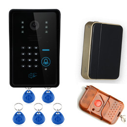 Wholesale Camera Intercom Systems Home - Touch Key WiFi DoorBell Wireless Video Door Phone Home Intercom System IR RFID Camera With rain-proof cover.