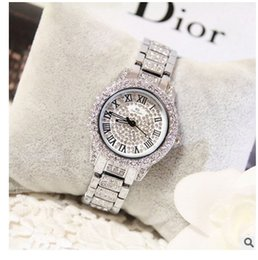 Wholesale Austrian Diamond - 2016 Arrival Famous Brand Custom Watch Women Luxury Full Austrian Crystals Watch Lady Diamond Rhinestone Watch Bangle Bracelet FA08039