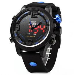 Wholesale Men Sports Ohsen Brand Watches - OHSEN AD2820 Men Silicone Sports Quartz Watch Big Dial Double Movement 5ATM Water Resistant men watch luxury brand