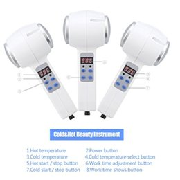 Wholesale Medical Treatment Equipment - LCD Ultrasonic Cold Hot Warm Treatment Cryotherapy Therapy Hammer Anti-ageing Machine Beauty Equipment Clean Salon For Home Use