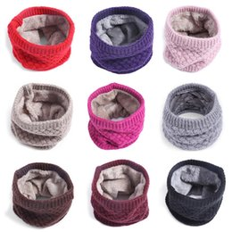 Wholesale 3in1 Ring - Fantastic 50*20cm Winter Scarf&Hats&Mask 3in1 Mode Thickened Wool Collar Ring Neck Wamer For Women Men Children Kids Boys Girls