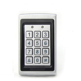 Wholesale Door Access Control Card - Anti smashing water proof 125KHZ EM RFID Access Control Keypad Card Access Control Door Opener