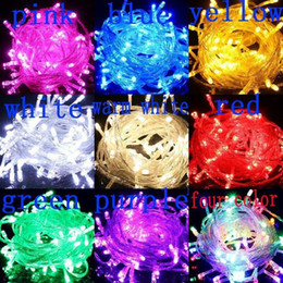 Wholesale Energy Holidays - A10M Copper wire Holiday Sale 10m100 LED Energy String Fairy Lights Warterproof Christmas lights Garden Outdoor Drop Ship