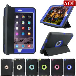 Wholesale Wholesale Defender Cases - For new iPad pro air 2 3 4 mini Heavy Duty Armor Impact Rugged Shockproof Hybrid Defender Case With Auto Sleep Awake Cover