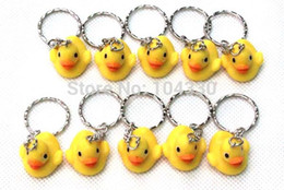Wholesale Keychain Carabiner Light - NEW 20 Pcs WOMEN MINI THAI RUBBER DUCK KEYCHAIN KEYRING GIFT FREE SHIPPING