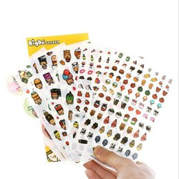 Wholesale Free Scrapbooking Supplies - 6sheets set Sweet Korea Cartoon Life series PET Sticker set Deco label scrapbooking stickers office school supplies wholesale , free shippin