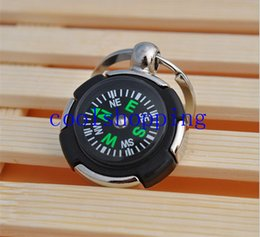 Wholesale Magnetic Compass Wholesalers - Tyre compass key chain round tire magnetic compass keychain trip travel necessary tool multifunction key ring