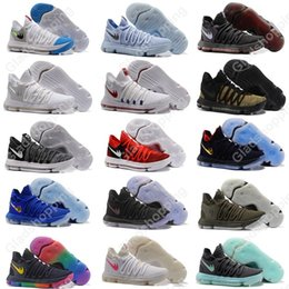 Wholesale Kd Zoom Basketball - New Zoom KD 10 Anniversary University Red Still Kd Igloo BETRUE Oreo Men Basketball Shoes USA Kevin Durant Elite KD10 Sport Sneakers KDX
