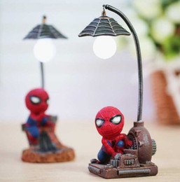Wholesale E27 Flash Lamp - Retro Stump Resin Spiderman LED Flashing Night Lights Small Lamp Night Club Bars Party Decoration Christmas Colorful Lamps Home Decoration M