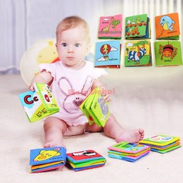 Wholesale Pictures Development - Wholesale- 2Pcs Baby Playpen Baby Infant Cloth Book Early Education Intelligence Development Learn Picture Cognize Book 4 Assorted Style