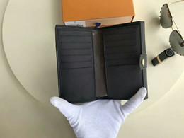 Кожаные записные книжки онлайн-2017 Известный Бренд Повестки дня Паллада Обложка из Натуральной Кожи Кошельки Дневник с мешком для мусора карты записные книжки Кошельки CX # 213 Кошельки M60140 Сумки