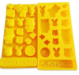 Wholesale Bakeware Silicone Moulds - Winnie the Pooh Cake Mold Flexible Silicone Soap Mold For Handmade Soap Candle Candy bakeware baking moulds kitchen tools ice molds