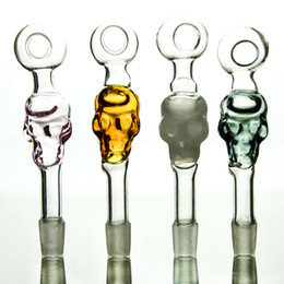 Wholesale Nice Tubes - Nice Quality Glass Pipes 20 Pcs Lot Stright Tube Pipes Clear Yellow Green Pink Glass Pipes SW05