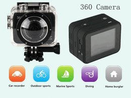 Wholesale H 264 Professional Dvr - 5PCS New Sport Video ActionWIFI Camera X360 H.264 360 Degrees SportS Cam mini camcorder 360x190 Large Panoramic 360 Degree Video DV DVR