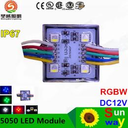 Wholesale Super Bright Color Led - 5050 SMD RGBW full color LED modules lights DC12V IP67 waterproof outdoor channel letter super bright led chip Lighting decoration