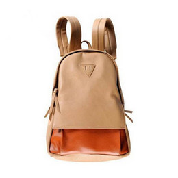 Wholesale Backpack Faux Leather - 2013 Korean Style Cute 4 Colors Faux Leather Backpacks Women's Satchel Campus Teenager School Bags LL025