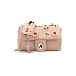 Wholesale Flora Bags - Fashion Flora Lady Shoulder Bag Crossbody Bag Cute Pink Chains Flap Dimensional carved Adjustable Handle Candy Small Handbag WDS568