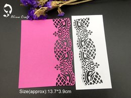 Wholesale Frames Papers - METAL CUTTING DIES cut lace edge frame background gate DIY Scrapbook PAPER CRAFT card album embossing stencils template punch