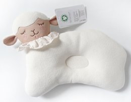 Wholesale Lamb For Baby - Cute Lamb Style Cotton Baby Pillow Newborn Infant Sleep Prevent Flat Head Support Cartoon Shaping Pillow for Babies