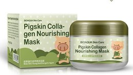 Wholesale Head Pig - BIOAQUA pig carbonated bubble clay Mask 100g remove black head acne Shrink pores face care facial sleep mask Free shopping