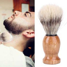 Argentina Brocha de afeitar para hombres de Nylon and Badger Hair Barber Salon Limpieza facial para barba Shave Tool Razor Brush Suministro