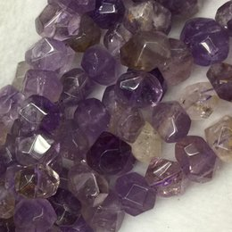 """Wholesale Citrine Heart - Wholesale Natural Genuine Purple Yellow Ametrine Hand Cut Faceted Nugget Free Form Loose Beads 15.5"""" 04260"""