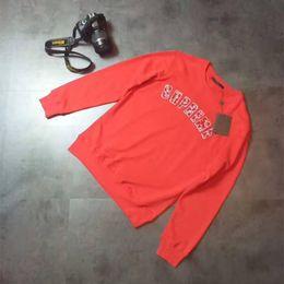 Wholesale High Neck Pullover For Women - 2017 Tea Peach Suprem Men's Hoodies & Sweatshirts High street embroidery letters brand hoodies for men women Cotton mens hoodie coat