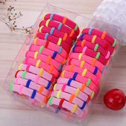 Wholesale Elastic Pearl Ring - 24pcs set nylon hair ring hairbands Korean creative blending hair rope elastic head band headdress
