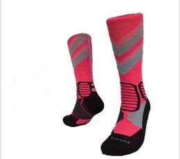 Wholesale Thick Cotton Crew Socks - Wholesale-2016 Elite Thick Cotton Knee Hight Basketball Socks Sport Socks Man Elite Crew Elite Long Professional Socks Cotton