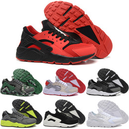 Wholesale Cheap Winter Boots Online - 2016 Air Huarache Running Shoes For Sale Men New Cheap Trainers Online Authentic High Quality Sports Boots Free Shipping Size 7-11