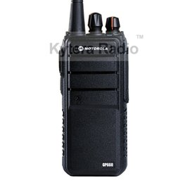 Wholesale Longest Range Talkies - Wholesale-GP660 Professional Walkie Talkie 8W Power 4000mAh UHF 400-480MHz Long Range PTT Portable Two Way Radio + Headset for Motorola