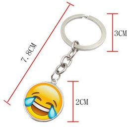 Wholesale Girls Key Necklace - Fashion Smiley Face necklace Emoji pendants Smile keychain best friends gifts 90s Smiley Face key chain jewelry Happy pendan Best Gift
