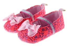 Wholesale Crochet Cow - Summer New Fashion Girls Lovely Princess Hollow Hand-crocheted Baby First Walkers Soft Bottom Toddler Shose Bow Baby Shose