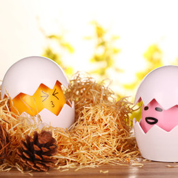 Wholesale Battery Save - Mini led Yolk night lamp USB charge 3 AAA battery yolk lights non-toxic energy saving decoration lights pink yellow blue for birthday gifts