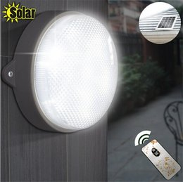 Wholesale Outdoor Ceiling Led Lighting - Solar Garden Lights Garden Wall Lamps Solar Powered LED Ceiling Lighting Outdoor Solar Street Light with IR Remote Control