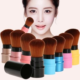 Wholesale Mini Retractable - 8pcs Set Retractable Mini Soft Cosmetic Brushes Portable Makeup Contour Foundation Blusher Face Powder Brushes Beauty Tools