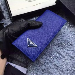Wholesale Free Sky Card - 2017 new best Christmas present! Classic lattice folding wallet men and women Universal long letter pattern wallet free shipping
