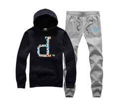 Wholesale Tracksuit Men Plus Size - 2016 Diamond Supply sweat suit Autumn sportswear sport men clothes track suits tracksuits male sweatshirts +Pants Plus Size 3XL