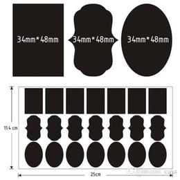 Wholesale Black Bathroom Toilets - 36Pcs Set High Quality Chalkboard Blackboard Chalk Board Stickers Craft Kitchen Jar Labels Free Shipping 200set