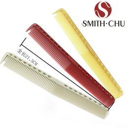 Wholesale Professional Hairdressing Combs - Wholesale-Hairdressing Barber Comb 21.5 cm Professional Salon Combs Anti-static Resin High quality Tool 3color Free shipping YS335