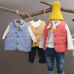 Wholesale Cheap Baby Vests Wholesale - 2017 New Cheap Kid Vest Cotton Thick Winter Warm Baby Overcoat Sleeveless Jacket