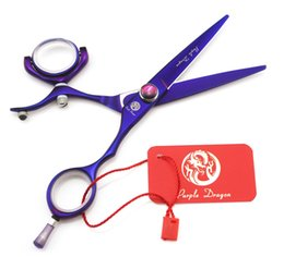 "Wholesale Hair Stylist Scissors - #610 5.5"" High Quality Voilet 360 Degree Rotation Flying Scissors Hair Cutting Shears,Professional Barber & Home Hairdressing Stylist Tools"