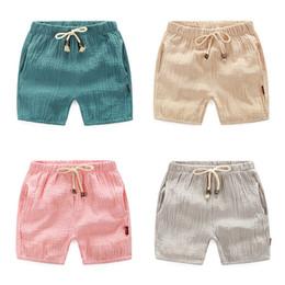 Wholesale Trouser Pants For Children Wholesale - 2-6age Summer Trousers For Boys Cotton Children Beach Capris Casual Kids Pants Harem Pants Boys